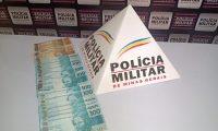 POLÍCIA MILITAR DE MUTUM APREENDE AUTORA COM 6 MIL REAIS EM MOEDA FALSA.